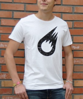 T-Shirt Homme Blanc Meteor