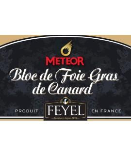 Bloc de Foie gras de Canard à la Bière de Noël Meteor - Feyel
