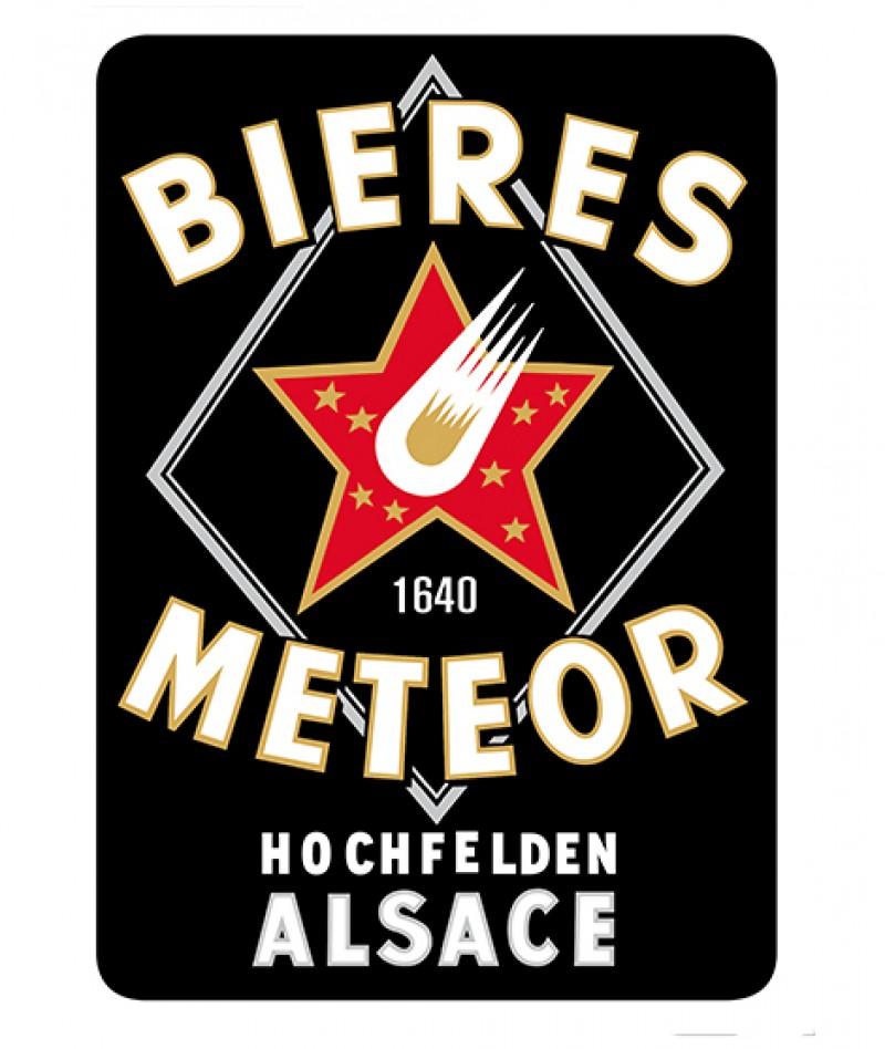 Plaque vintage Meteor Noire