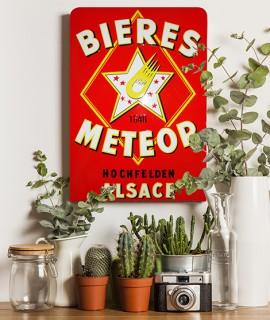 Plaque vintage Meteor Rouge